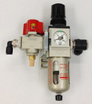 Air Filter Regulator Assembly (FRL & Guage) - Spectrum Heat Stakers & Sonitek Air presses