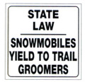 "WHITE PLASTIC REFLECTIVE SIGN 12"" - YIELD TO GROOMER (494SLG)"
