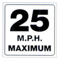 TRAIL SIGN - 25 MPH MAXIMUM (490-MPH)