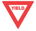 "PLASTIC REFLECTIVE SIGN 12"" YIELD SIGN (499 Y WR)"