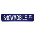 "SNOWMOBILE STREET - ALUMINUM STREET SIGN 6"" X 24"" (624SST)"