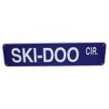 """SKI DOO CIR. - ALUMINUM STREET SIGN 6"""" X 24"""" (624SDC)"""
