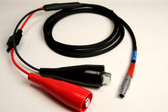 20007m - Power Cable: 4400/4000 Receiver to Alligator Clips