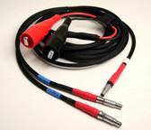 70130-X, Trimble SNB Radio to Topcon HiPer V, HiPer II, GR3 Splitter Cable