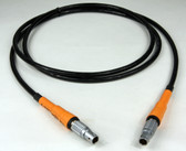 70092R  Power Cable for Leica iCG60 & Viva GS10,GS12,GS14,GS15,GS16,GS18 Instruments to Leica Red Brick Battery 6 ft.