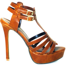 Ultra high heel mixed with a cute platform sandal, the Nora2 is a great tan sandal featuring dual ankle straps. These sandals are perfect for any outfit!