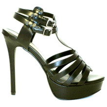 Ultra high heel mixed with a cute platform sandal, the Nora1 is a great black sandal featuring dual ankle straps. These sandals are perfect for any outfit!