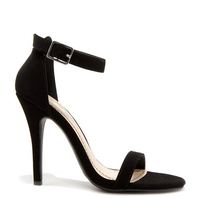 anne michelle enzo strappy sandals black nubuck