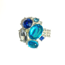 Calvin Silver & Multi Tone Blue Ring