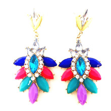 Bella Muti-Color Rhinestone Earrings