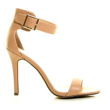 Cindy Nude High Heel Ankle Strap Sandal