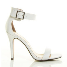 Breckelles white strappy heel sandals