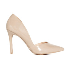 Wild diva nude patent stiletto pumps