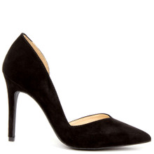 wild diva black nubuck stiletto pumps