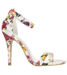 *FEATURED* Jessica White Flower Strappy High Heel Sandal