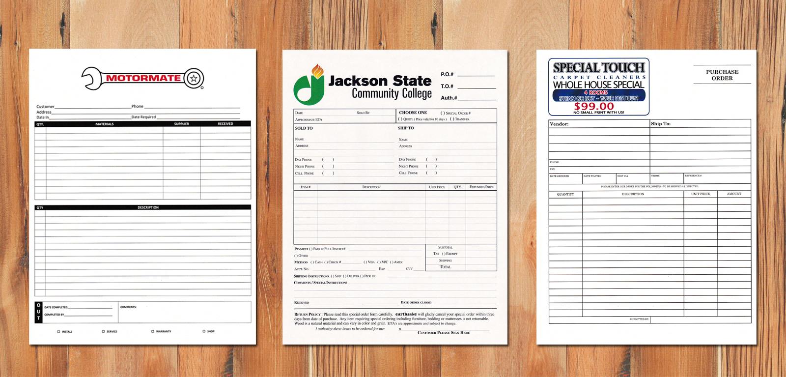 Part Forms Cabonlesscom - Custom carbonless invoice forms