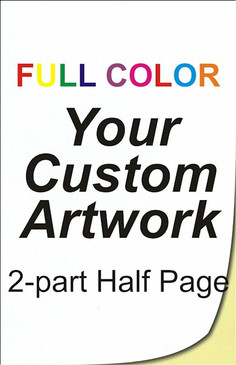 full color, half page, 2 part, ncr forms, ncr printing, 5.5 x 8.5, custom, 4 color, four color, custom ncr forms