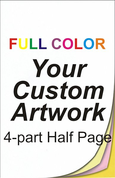 full color, half page, 4 part, ncr forms, ncr printing, 5.5 x 8.5, custom, 4 color, four color, custom ncr forms