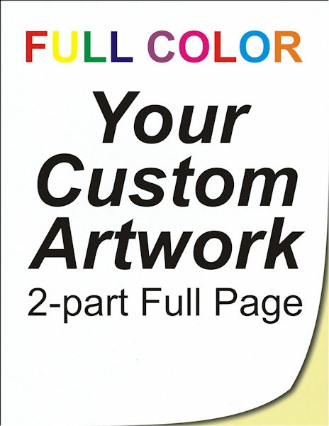 full color, full page, 2 part, ncr forms, ncr printing, personalised invoice books, 8.5 x 11, custom, 4 color, four color