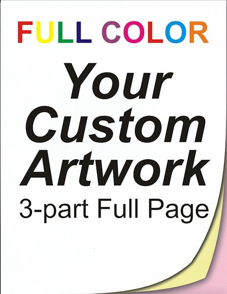 full color, full page, 3 part, ncr forms, ncr printing, personalised invoice books, 8.5 x 11, custom, 4 color, four color