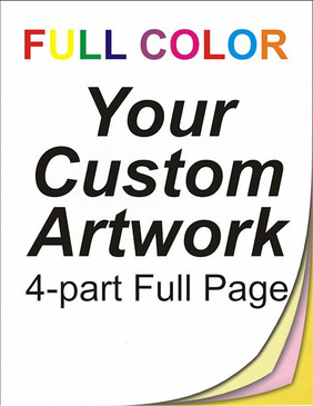 full color, full page, 4 part, ncr forms, ncr printing, personalised invoice books, 8.5 x 11, custom, 4 color, four color