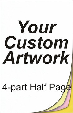 half page, 4 part, 5.5 x 8.5, 8.5 x 5.5, carbonless forms, carbonless form printing, custom carbonless forms, form printing, custom forms
