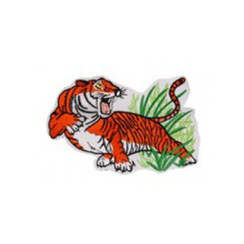 #1212 TIGER ON GRASS 10""
