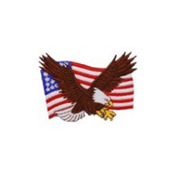 #1232 EAGLE ON FLAG 3.5""