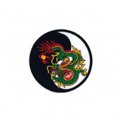 #1273 DRAGON ON YIN YANG  4""