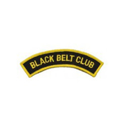 #1355 BLACK BELT CLUB- ARCH  5""