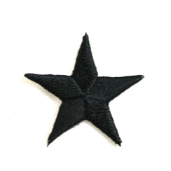 "Color Stars 1""  (50 PK) BLACK"