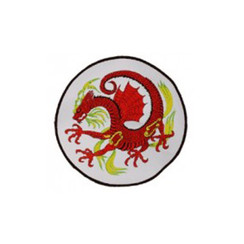 "#1479 RED Dragon WHT BACKROUND 8"""