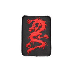 #1593 RED DRAGON BLK BACKROUND  4""
