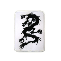 #1594 BLK DRAGON WHT BACKROUND  4""
