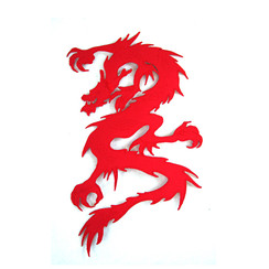#1596 DRAGON (RED) 11""