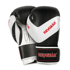 Revgear Kids Deluxe Boxing Gloves: Black/White 8oz