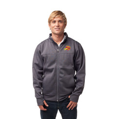 Z Logo Poly-Tech Zip Up  Hoodie: Charcoal