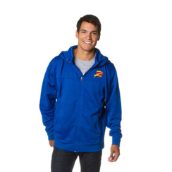 Z Logo Poly-Tech Zip Up  Hoodie: Royal