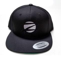Z Logo Snapback Hat: Black