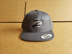 Z Logo Snapback Hat: Grey