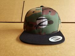 Z Logo Snapback Hat: Camo/Black