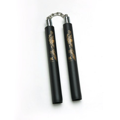 Foam Nunchaku, w/Chain, Black