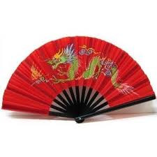 Dragon Chinese Fan - Red