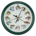 Splashing Gamefish Clock, 8""
