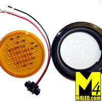 "4"" Amber LED Round Running and Stop Lamp with seal and harness"