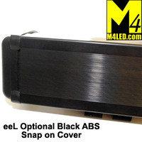Black ABS Light Cover for M4 eeL40 Light Bars 6.75""