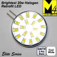 G4-18-5630-SIDE-CW Cool White Elite Series G4 / T3  Samsung 5630 LEDs Side Pins to replace 20w Halogen