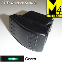 SWITCH-ROCKER-GREEN 20 Amp Green Rocker Switch