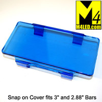 "Snap On Light Cover 6"" wide fits 3"" tall and smaller light bars BLUE"