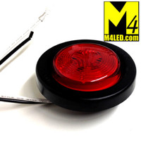 "30% Off - 2.0"" Red LED Round Clearance Lamp with seal and harness"